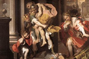 Aeneas Fleeing from Troy Barocci in the Borghese Gallery