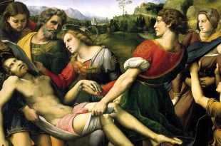 Deposition by Raphael in the Borghese Gallery