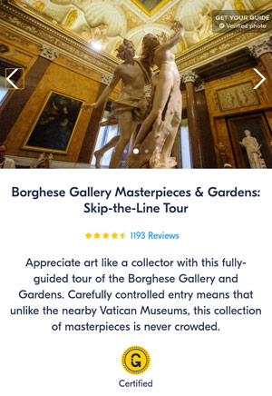 Skip the line Tour in Borghese Gallery and Gardens