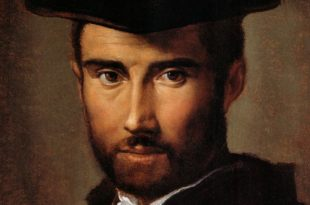 portrait of a man by parmigianino