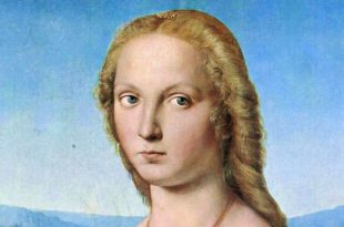 Portrait of Young Woman with Unicorn by Raphael in Borghese Gallery