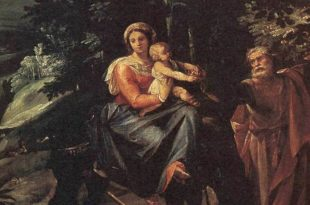 The Flight into Egypt painting by Cavaliere d'Arpino