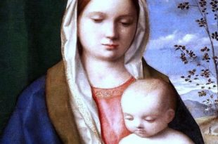 Virgin and Child by Bellini in Borghese Gallery